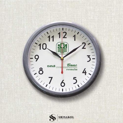 นาฬิกาแขวน 10.2 นิ้ว ขอบสีเทา A2102-15C
