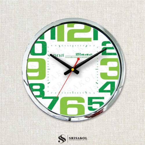 นาฬิกาแขวน 15 นิ้ว ขอบสีเงิน รหัส A2103-10C