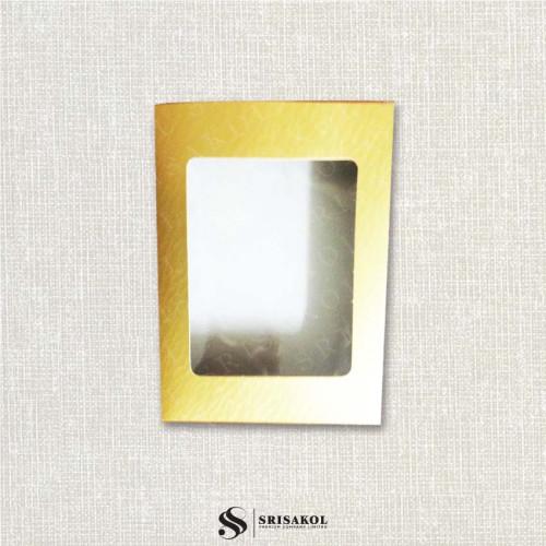 กล่องสำหรับบรรจุผ้าขนหนู (เฉพาะกล่อง) สีทอง รหัส A2124-16TB
