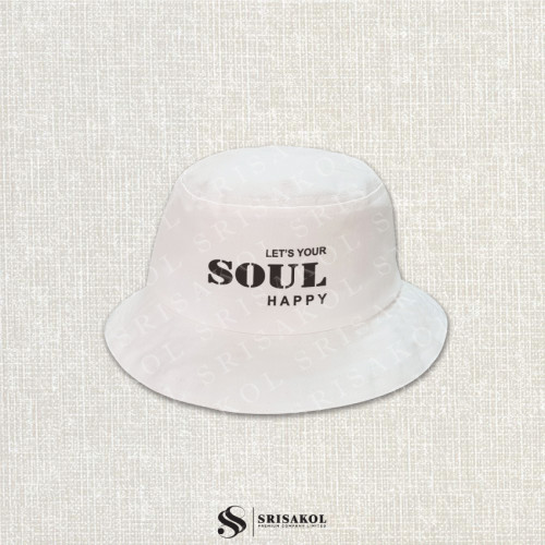 หมวก bucket สีขาว ผ้าแคนวาส สีดิบ รหัส A2123-21H