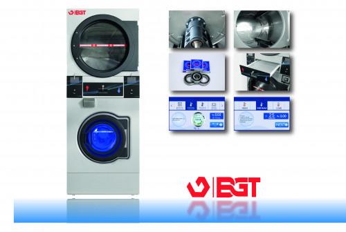 BGT เครื่องซักผ้า อบผ้าหยอดเหรียญ 2 ชั้น แบบอุตสาหกรรม ขนาด 12  กิโลกรัม 3
