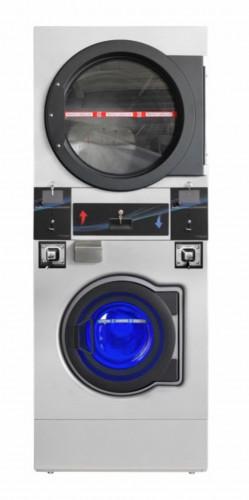 BGT เครื่องซักผ้า อบผ้าหยอดเหรียญ 2 ชั้น แบบอุตสาหกรรม ขนาด 12  กิโลกรัม