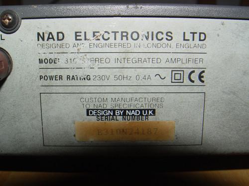 NAD 310 Stereo Integrated Amplifier รุ่นผลิตในอังกฤษ 4