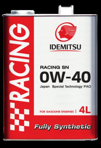 IDEMITSU RACING SN 0W-40 FULLY SYNTHETIC