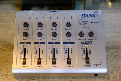 Edirol M-10E 10Ch 5Stereo Mixer สไลด์โวลลุ่มคุณภาพเกรดญี่ปุ่น ไม่มีน๊อยส์ มิกซ์เล็ก คุณภาพดี