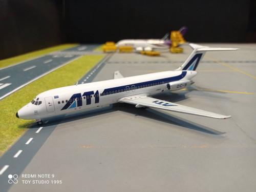 HW571234 1:200 Aero Trasporti Italiani DC-9-30 Basilicata I-RIKS  [ Width 19 Length 15 Height 7 cm