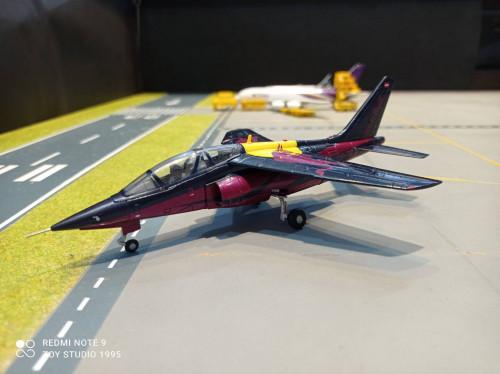 HW580496 1:72 The Flying Bulls Alpha Jet A D-ICDM [Width 13  Length 18  Height 6 cms.]