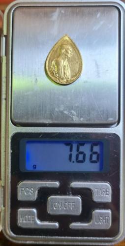 เหรียญสมเด็จญาณสังวร หยดน้ำ ทองคำ พิมพ์เล็ก รุ่นครบ1 ปี สถาปน ปี 2533 พร้อมกล่อง  งามและหายากสุุดๆ 4