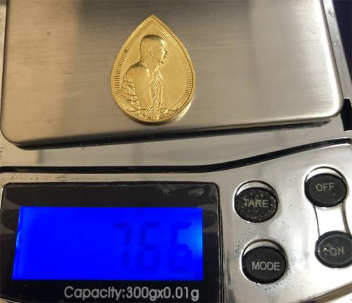เหรียญสมเด็จญาณสังวร หยดน้ำ ทองคำ พิมพ์เล็ก รุ่นครบ1 ปี สถาปน ปี 2533 พร้อมกล่อง  งามและหายากสุุดๆ 3