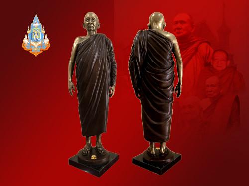 พระรูปหล่อ สมเด็จพระญาณสังวร สมเด็จพระสังฆราช ญสส. (ประทับยืน) วัดบวรนิเวศวิหาร ปี 2558 สร้าง 100 อง