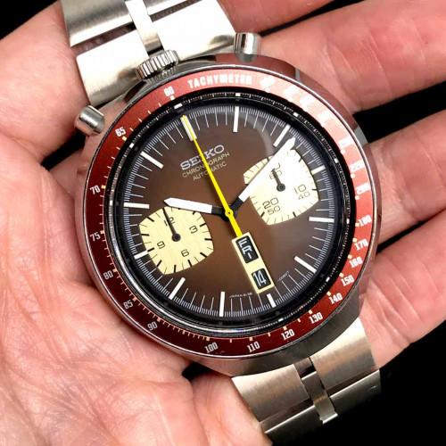 SEIKO Bullhead มดแดง 1970 Automatic Chronograph ขนาด 46x43 mm. 4