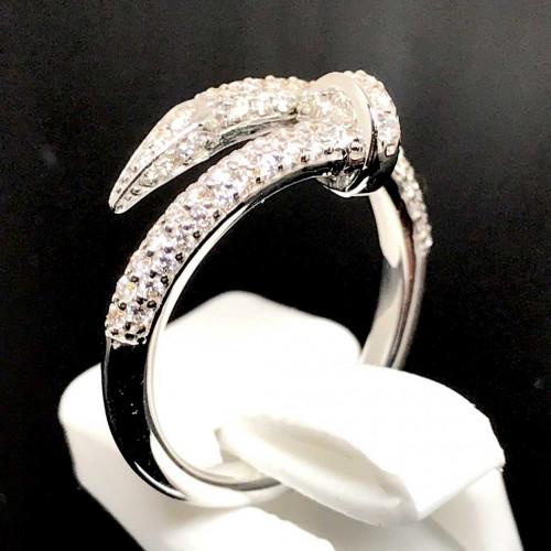 แหวนตะปูประดับเพชรแท้ ตัวเรือนทองขาว ประดับเพชร 85 เม็ดรวมน้ำหนัก 0.65 กะรัต ทอง 18k white gold 2