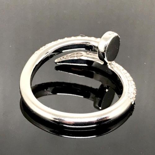 แหวนตะปูประดับเพชรแท้ ตัวเรือนทองขาว ประดับเพชร 85 เม็ดรวมน้ำหนัก 0.65 กะรัต ทอง 18k white gold 3