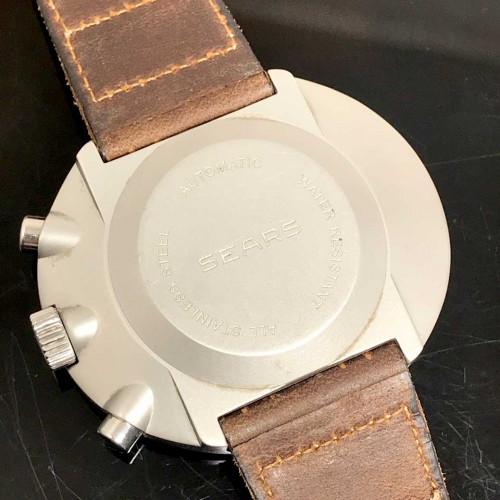 HEUER Sears Vintage 70s Chronograph ระบบไขลาน ขนาดตัวเรือน 45x40 mm. 2
