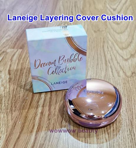 (พร้อมส่ง No.21 ผิวขาวเหลือง) Laneige Layering Cover Cushion & Concealing Base No.21 Beige