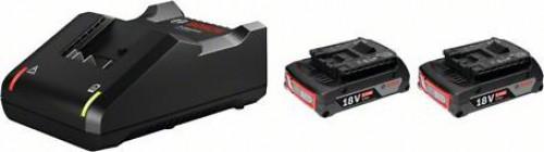 ชุดแท่นชาร์จ+แบตเตอรี่18V2.0Ah 2ก้อน BOSCH รุ่น 2xGBA18V2.0Ah+GAL18V-40