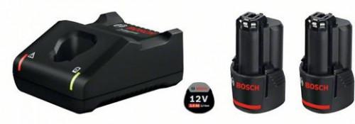 ชุดแท่นชาร์จ+แบตเตอรี่12V2.0Ah 2ก้อน BOSCH รุ่น 2xGBA12V2.0Ah+GAL12V-40