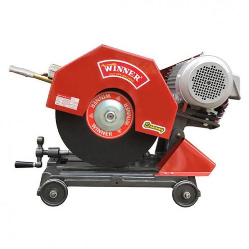 แท่นตัดเหล็ก 16 นิ้ว WINNER สีแดง พร้อมมอเตอร์ Hitachi 3 เฟส 380 โวลท์